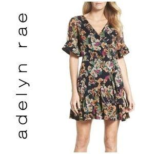 Adelyn Rae Penelope Floral Print Ruffle Dress